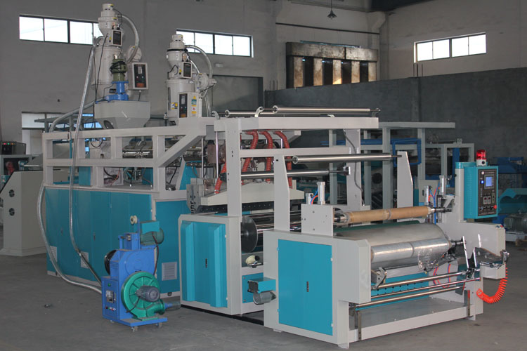 1500mm coulé film machine trois couches coextrusion film étirable machine