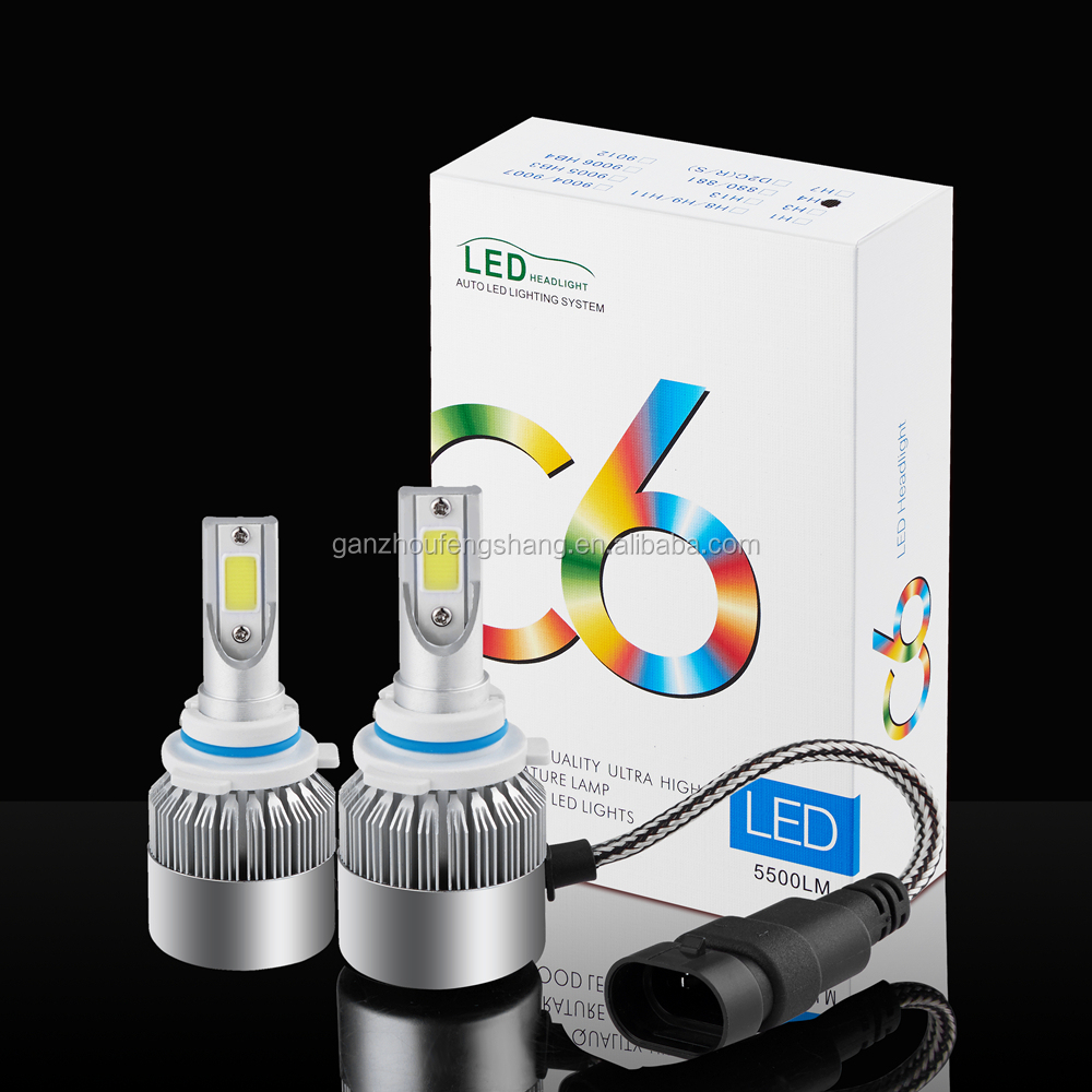 Best Customized COB Chips 36w CE and ROHS Certificated High speed Mute Fan Cooling System Car Led Bulb