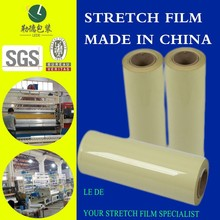 2015 extremadamente alta calidad pallet wrap film stretch film for outdoor use