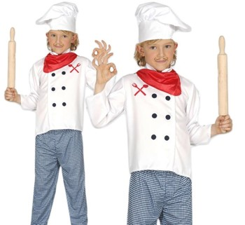 Boys Girls Master Chef Cook Career Job Role Play Fancy Dress Costume For  Kids Sd713 - Buy Costume,Career Costume For Kids,Chef Costume Product on
