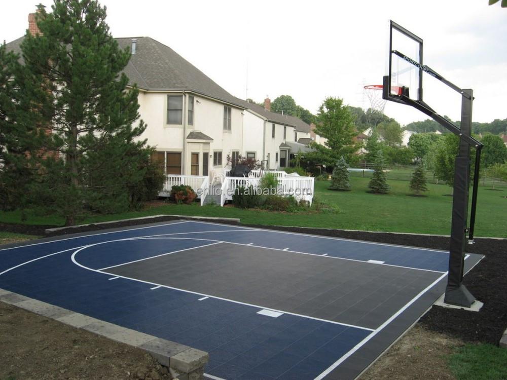 Basketball floor outdoor sports court pp interlocking for Sport court floor