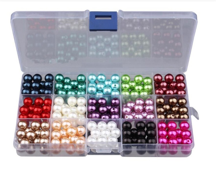 Wholesale custom abs colorful plastic imitation pearl beads for bracelet making