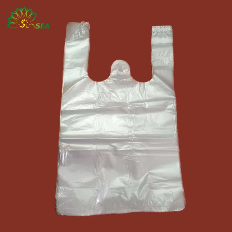 September Sale Factory Supply cheap price hdpe type t-shirt waste bags from anhui with fair