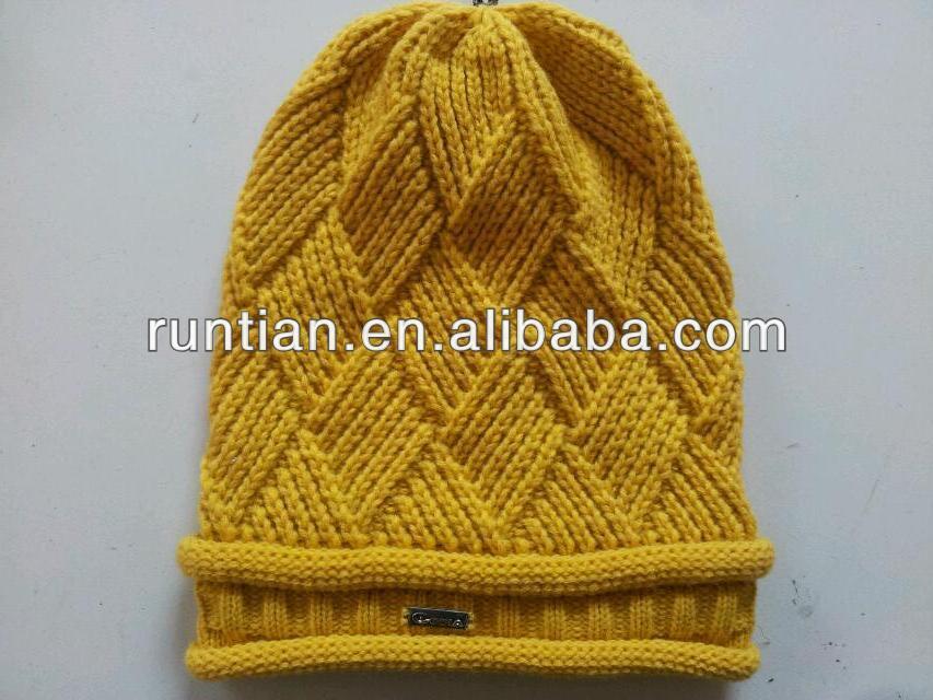 Ladies Beanie Hat Knitting Pattern Free Slouchy Beanie Knitting