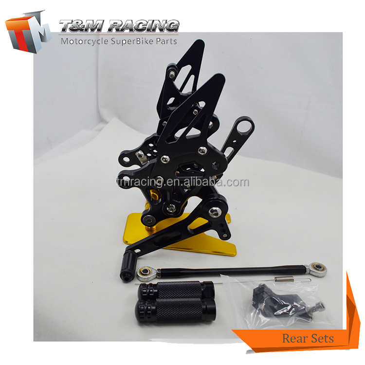 Full CNC aluminum Motorcycle Rearsets Rear Set For aprilia RSV4 09-11