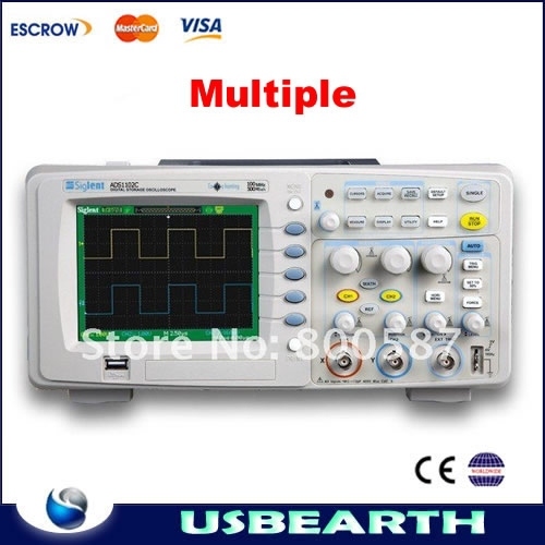 Multiple language Digital Oscilloscope Tester ADS1102C 100 MHz 2 Channel