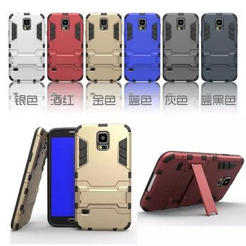 Iron-Bear Stand Rugged Hybrid Armor Phone Case Cover For Samsung Galaxy S5
