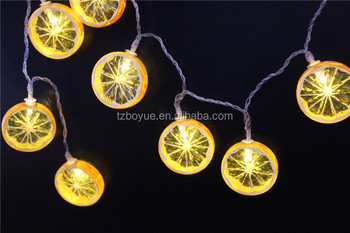 B O Lemon String Lights Hanging Novelty Fairy Light Chain Fruit Range Led