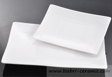 Wholesale Ceramic Porcelain Rectangle Sushi Flat Plates and Dishes
