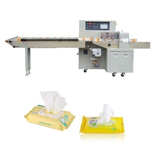 2018 New condition Plastic Packaging Material Automatic Wet Tissue /Single Cleaning Wipes Packaging Machine