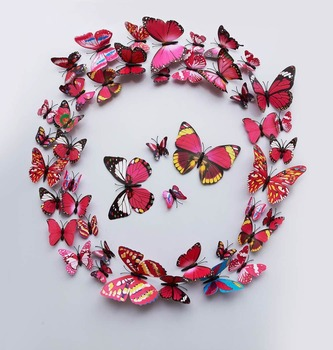 PVC 3d Butterfly Wall Decor Cute Butterflies Wall Stickers Art Decals Home  Decoration