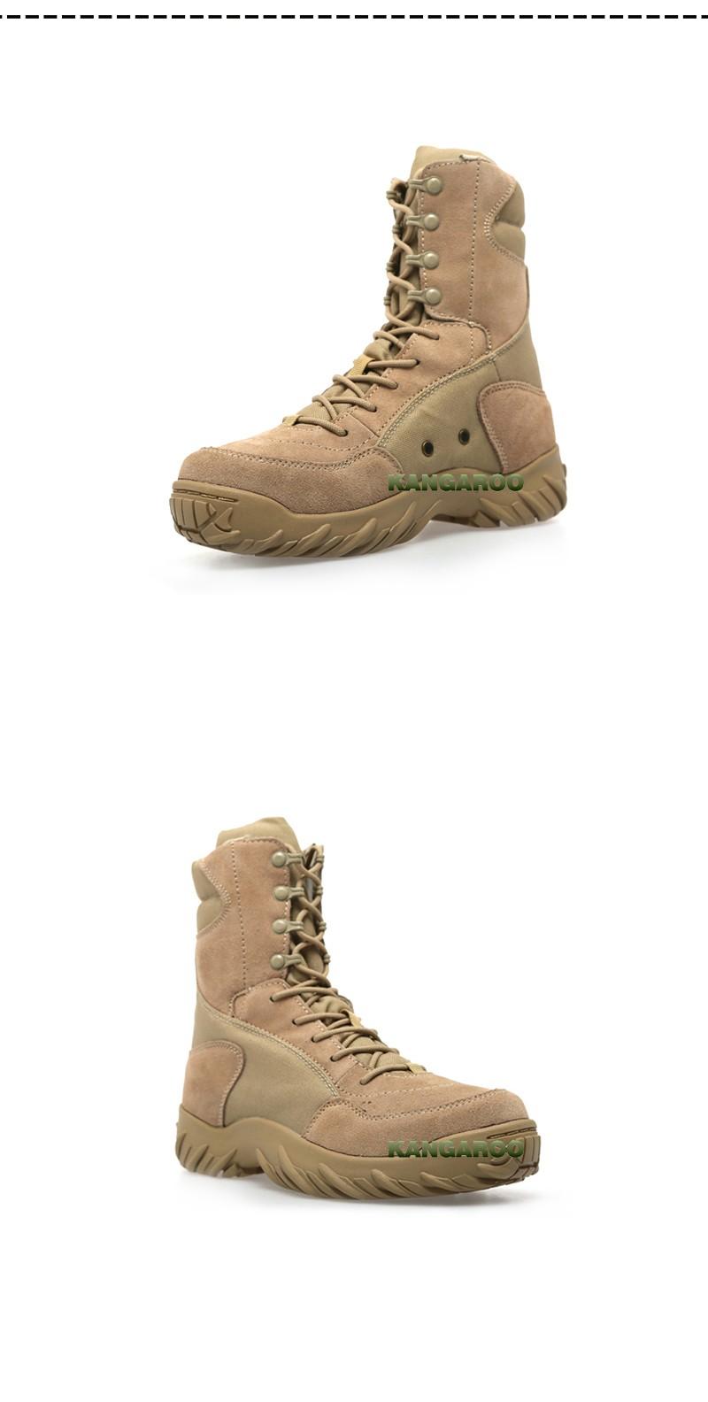 Venta al por mayor de puntera de acero americano campo de los hombres botas de cuero genuino militar