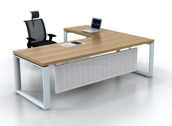 Eenvoudige ontwerp moderne manager bureau l vorm kantoor houten