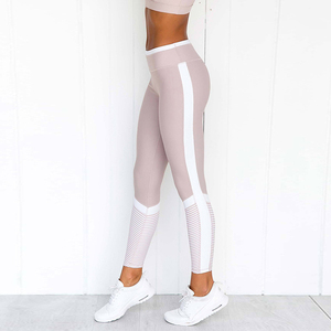 2019 Hot Fashion Printed Striped Patchwork Sport Casual Women Leggings