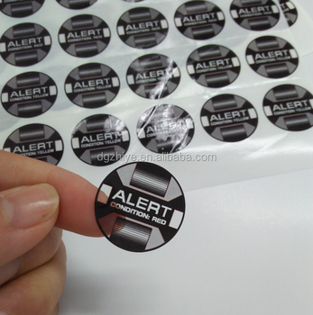 Clear label transparent sticker round label logo sticker with BOPP material