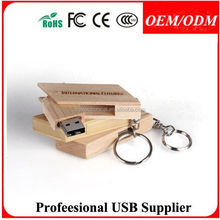 Original forest wooden USB drive, ROHS CE FCC wooden usb 2.0 flash drives , rectangle wooden wine corks usb disk