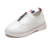 Zipper design high quality casual leather kids shoes