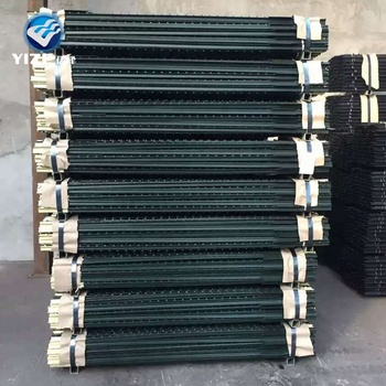 8329e0bf3e0 12 ft 1.33 lb Heavy duty posts for fencing  4 ft Garden Zone Light Duty
