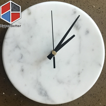 Natural white marble clock