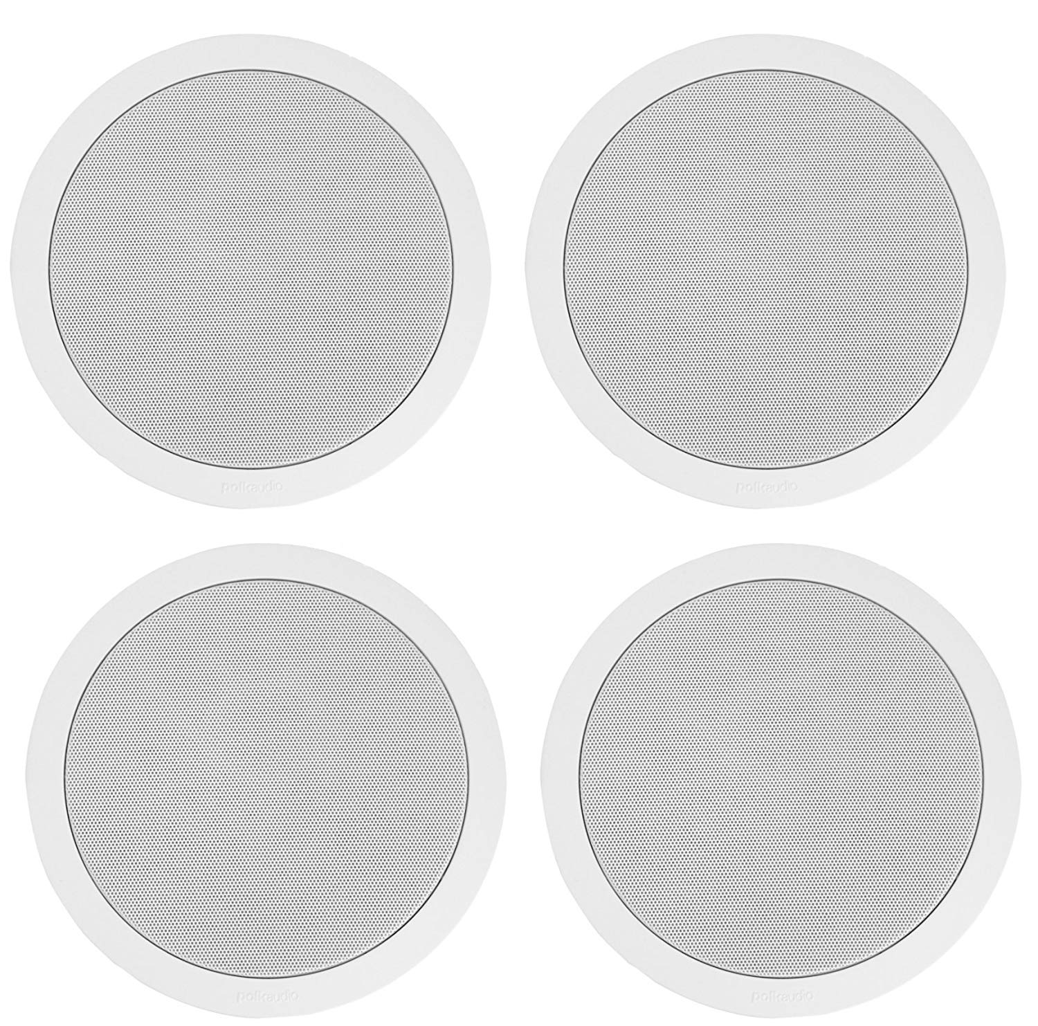 "Polk High-Performance 6.5"" 2 Way Natural Surround Sound In-Ceiling Speaker System (Set Of 4)"