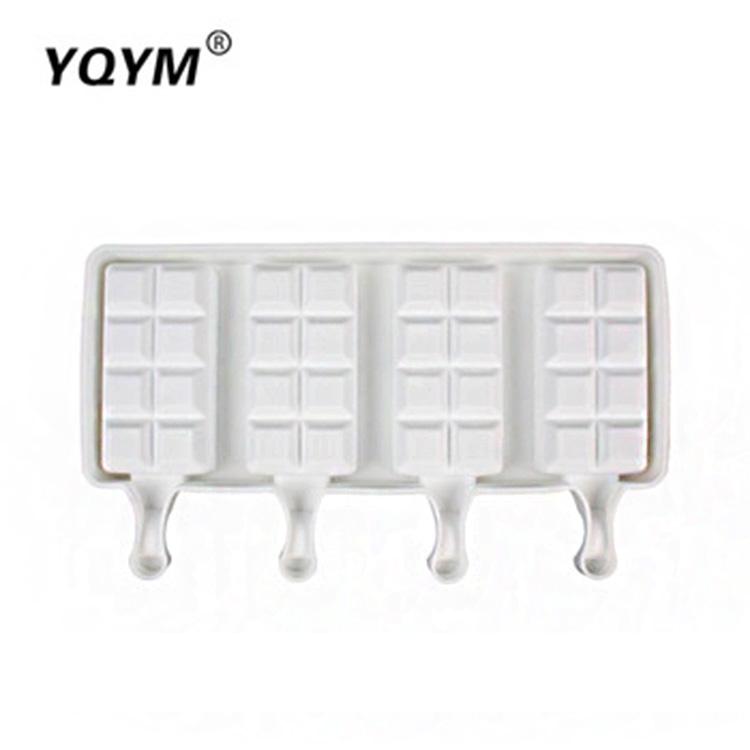 Hot-selling rectangular silicone chocolate diy silicone ice cream mold