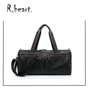 High Quality Fashion Large Pu Leather Celebrity Tote Bag Weekender Duffle Bag for man