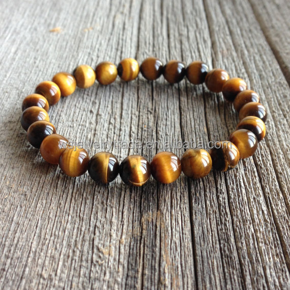 8-10mm size Tiger Eye Beads Natural stone bracelet Foreign trade wholesale
