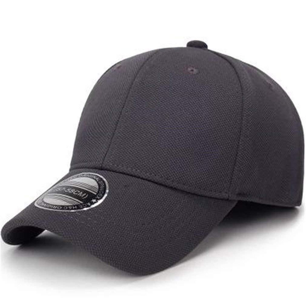 2fffcdc4097 Get Quotations · Perfumever Black Baseball Cap Men Snapback Hats Flexfit  Fitted Closed Full Cap