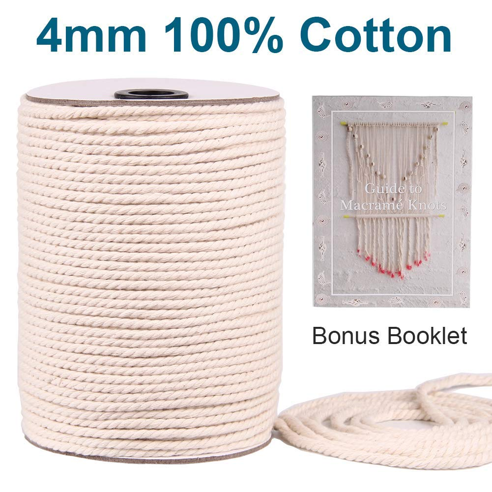 Evans Cordage Co. T.W Evans Cordage 29-003 1//4-Inch by 1200-Feet Twisted Cotton Rope T.W