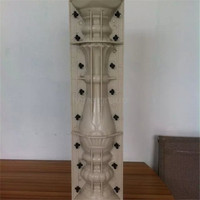 square gate house pillars designs concrete baluster mold making roman column for sale