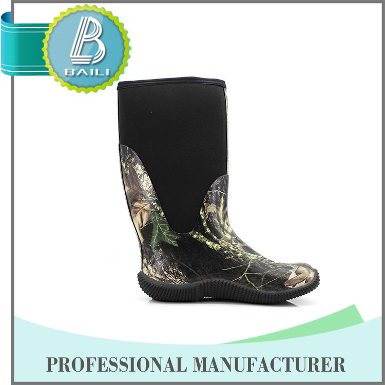 Baili direct factory high quality rubber insulation soft sole safety boots
