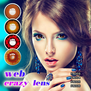 Cheap colored contacts Teenager Big Eye Look Purple Wild Contact Lens