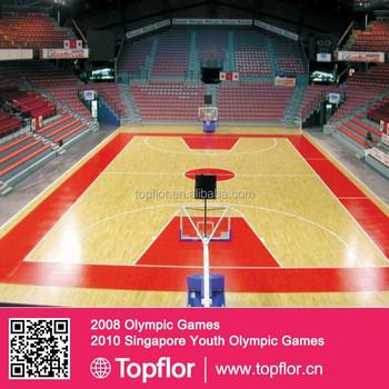 Professional Wood Look Vinyl Basketball Court