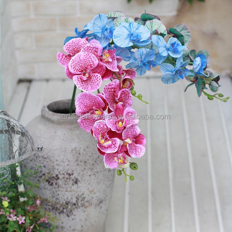 Groothandel Goedkope Zijde Kunstmatige Orchidee Bloemen Vintage Stof