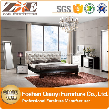 ZOE OW108 Luxury Italy European Bed French Provincial Wedding Comfortable  Wooden Bedroom Set Romantic Home Furniture