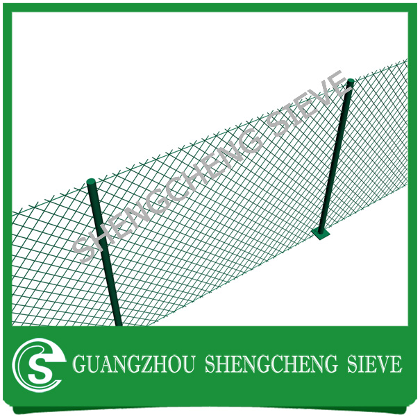 Pvc coated woven wire mesh diamond