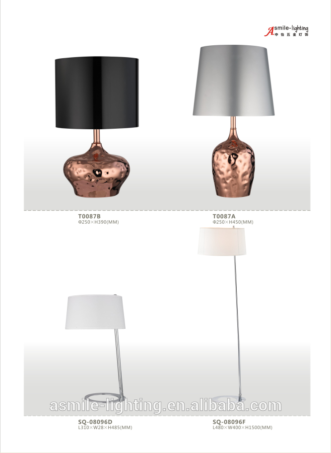 Classic Style Table Lamp Simple Design Lamp With Glass Lampshade ...