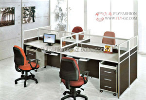 office furniture Modular office computer desk with pedestal/wooden office workstation