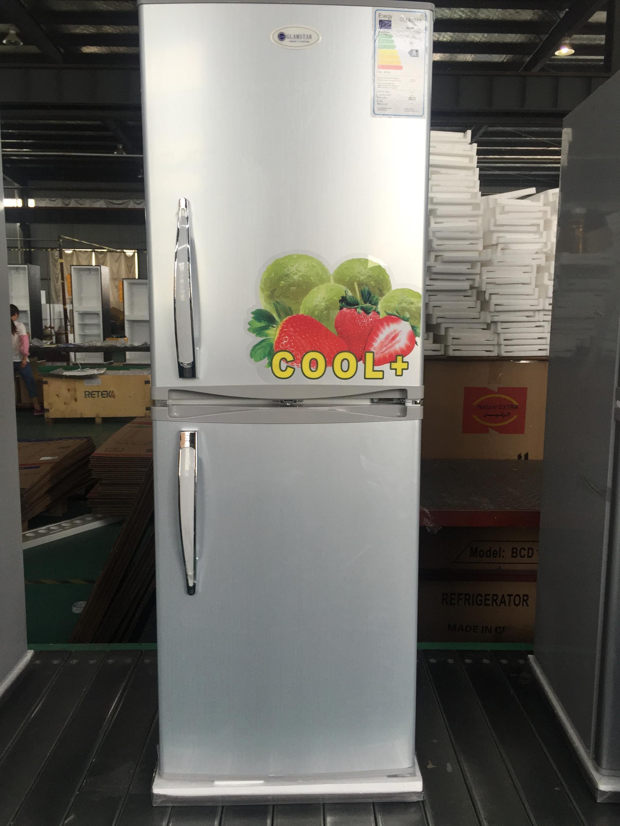 Home Refrigerator 215L Double Door Refrigerator Top Freezer
