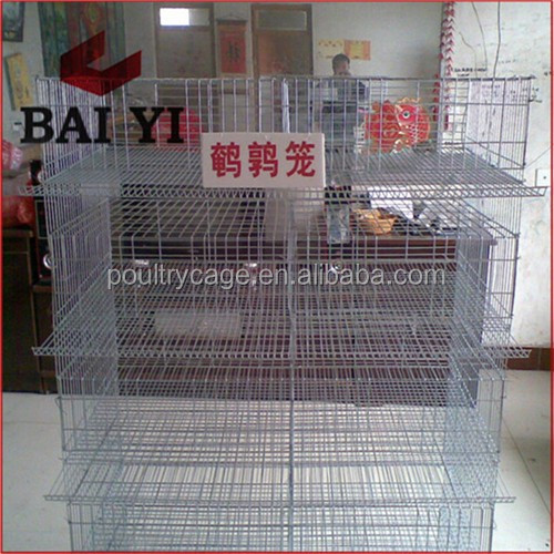 BAIYI Wholesale H Type Wire Mesh Quail Layer Cage Design