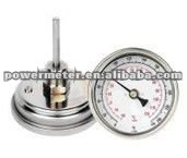 Stainless steel dial bimental thermometer