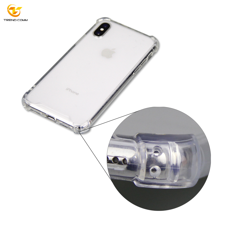 Shockproof Transparent TPU+Acrylic Case For Iphone X/Xs