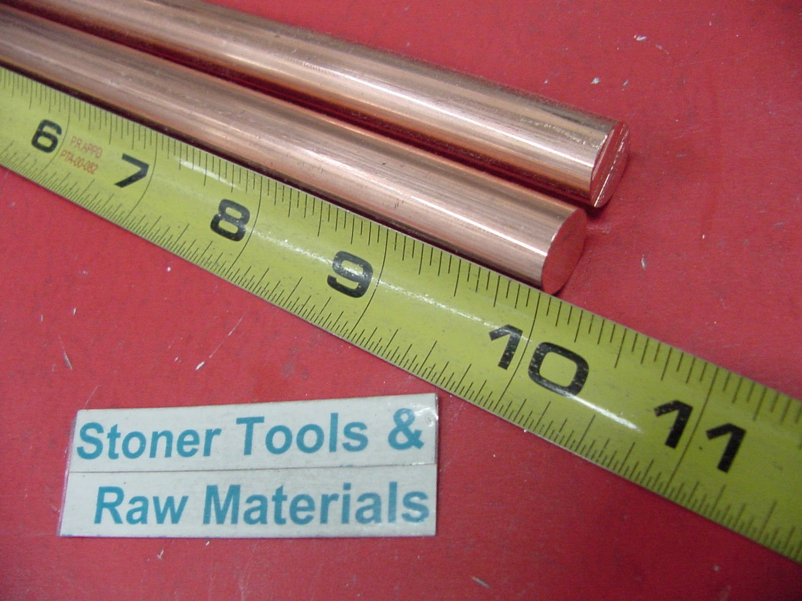 """3//8/"""" COPPER SOLID ROUND ROD C110 12/"""" Long  New Lathe Bar Stock .375/"""" 6 Pieces"""