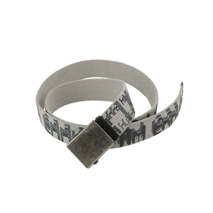 Factory supply good quality colorful printing luxury soft fabric cotton canvas belt for men