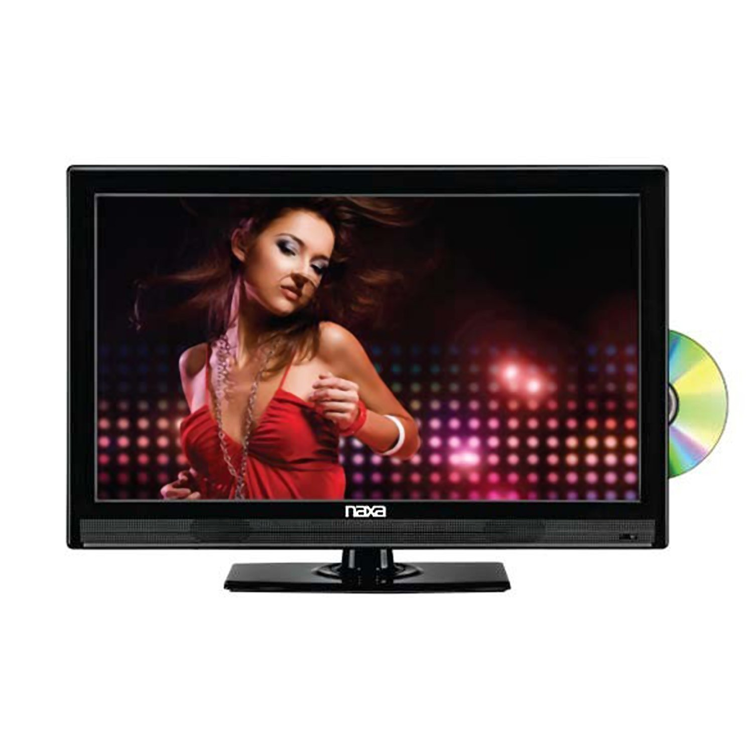 "Naxa NTD-2252 22"" Widescreen Full 1080P HD LED Television with Built-In Digital TV Tuner & USB/SD Inputs & DVD Player"