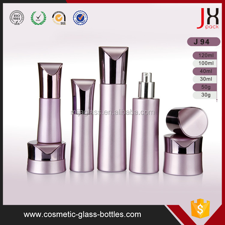 J94 Rose Gold 30ml to 120ml Pump Cosmetic Glass Bottle