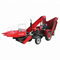 Tractor mounted small ear corn/maize combine harvester prices in pakistan market