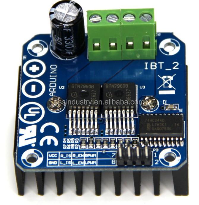 BTS7960 Module pilote de moteur haute puissance 43 A pour limite de courant Arduino