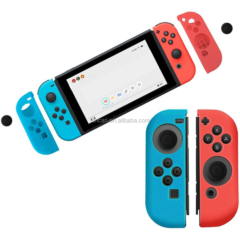 2017 Newest Silicon Case for Nintendo Switch Joy-Con, Joy-Cons Flexible Soft Shockproof Cover Skins with