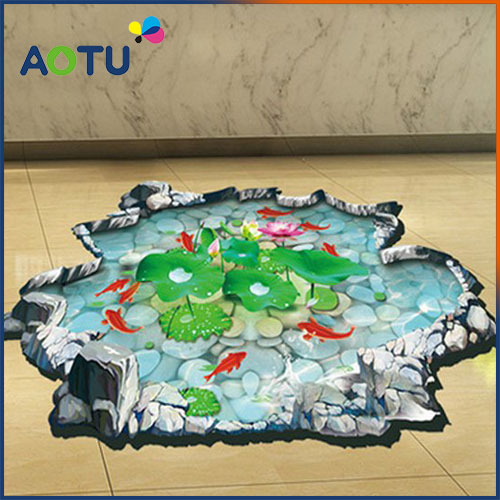 Manufacturer Removable 3d stickers vinyl floor